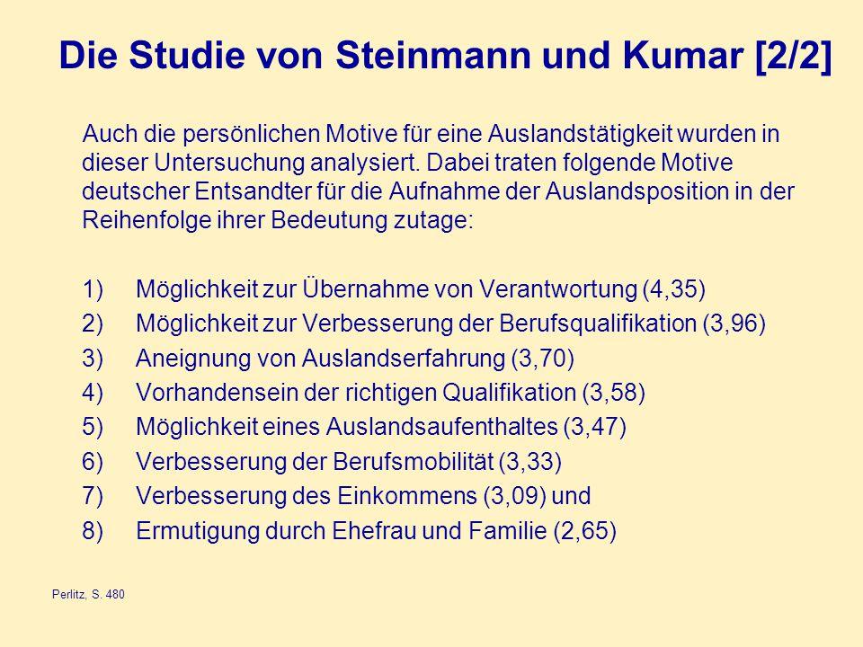 Die Studie von Steinmann und Kumar [2/2]